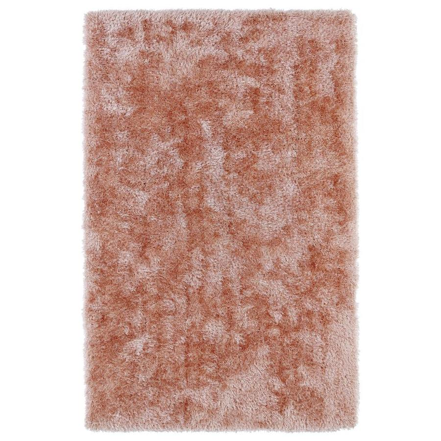 Kaleen Posh Salmon Indoor Handcrafted Novelty Area Rug (Common: 8 x 10; Actual: 8-ft W x 10-ft L)