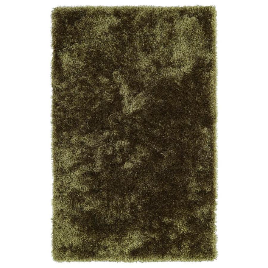 Kaleen Posh Olive Indoor Handcrafted Novelty Throw Rug (Common: 2 x 3; Actual: 2-ft W x 3-ft L)