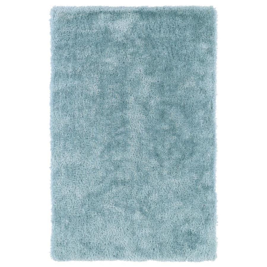 Kaleen Posh Light Blue Indoor Handcrafted Novelty Throw Rug (Common: 2 x 3; Actual: 2-ft W x 3-ft L)
