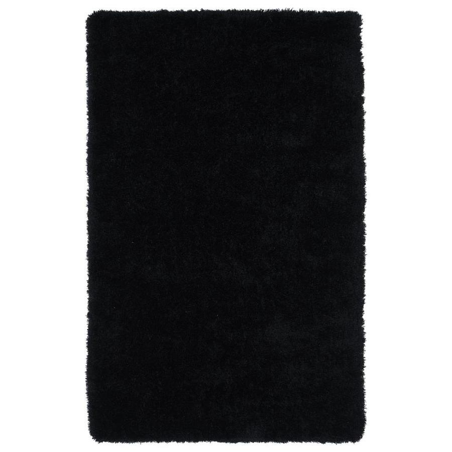 Kaleen Posh Black Rectangular Indoor Handcrafted Novelty Area Rug (Common: 5 x 7; Actual: 5-ft W x 7-ft L)