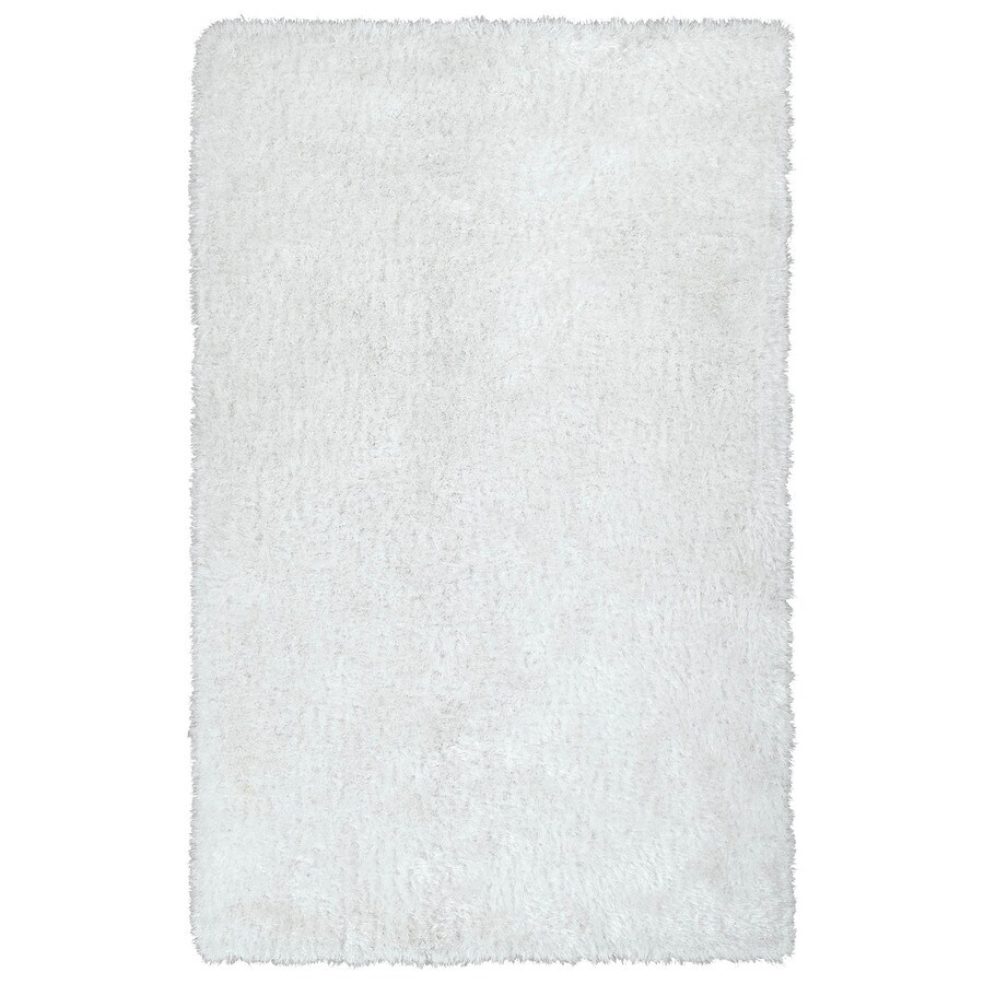 Kaleen Posh White Rectangular Indoor Handcrafted Novelty Throw Rug (Common: 2 x 3; Actual: 2-ft W x 3-ft L)