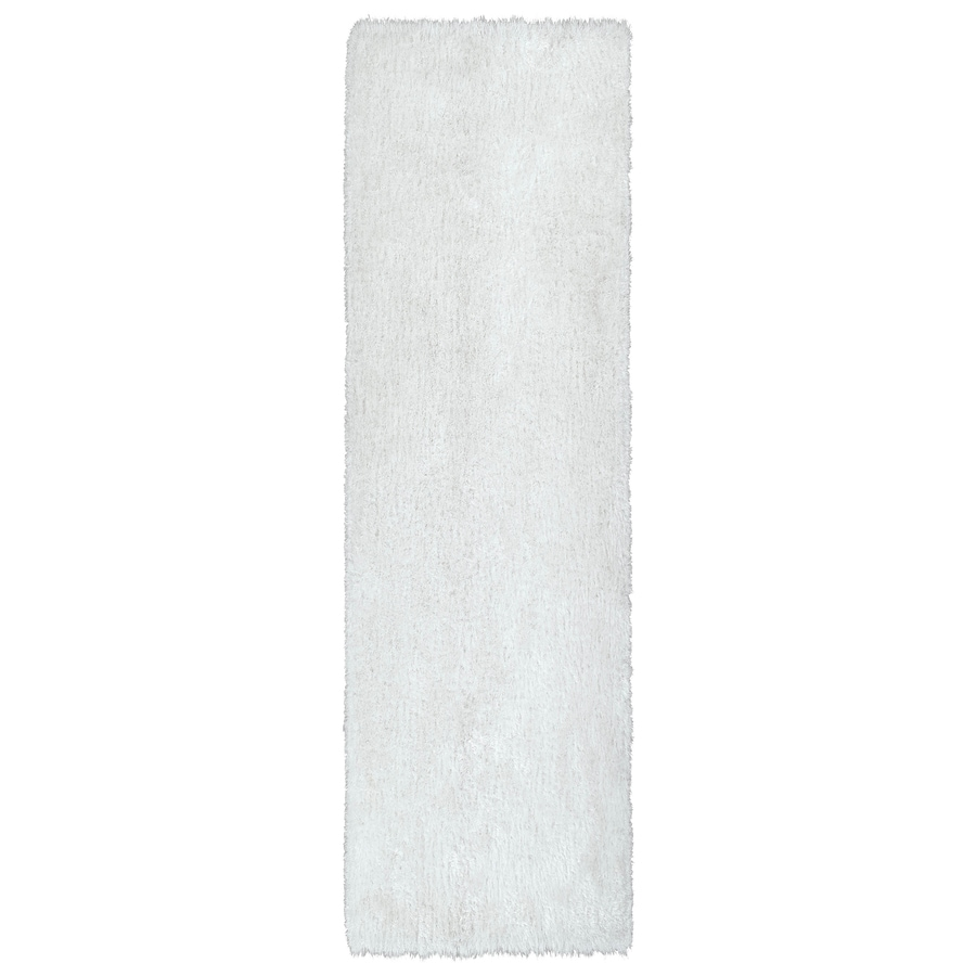 Kaleen Posh White Rectangular Indoor Tufted Kids Runner (Common: 2 x 6; Actual: 27-in W x 72-in L)