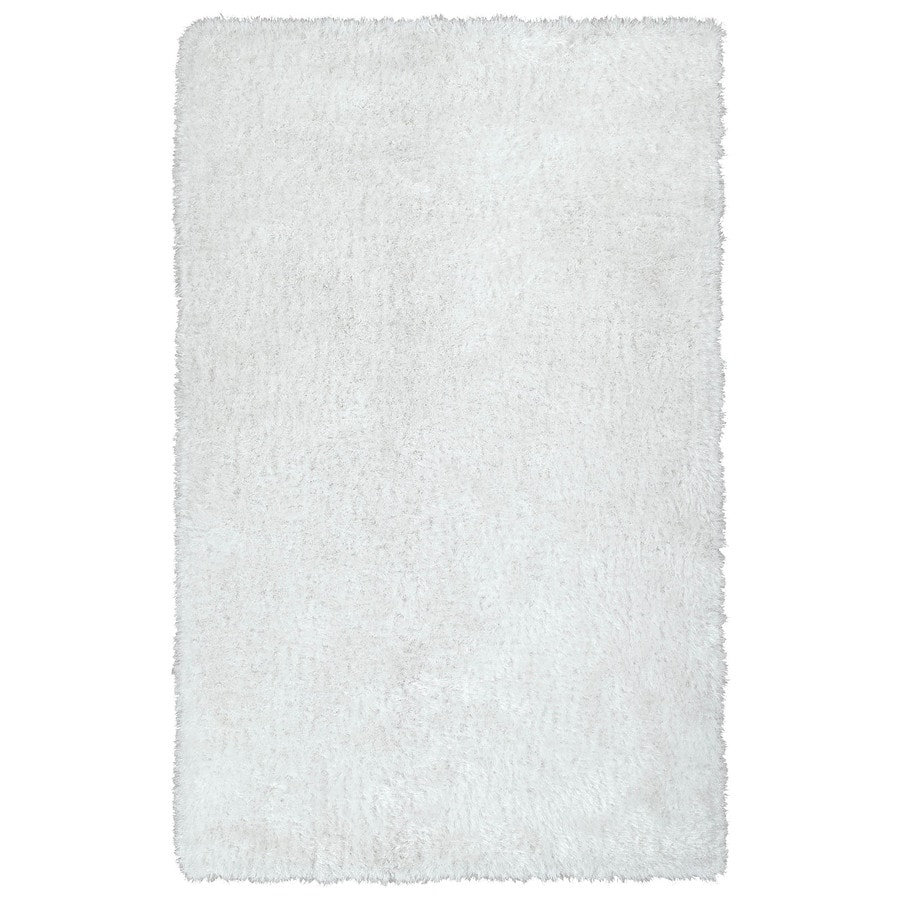 Kaleen Posh White Indoor Handcrafted Novelty Area Rug (Common: 8 x 10; Actual: 8-ft W x 10-ft L)