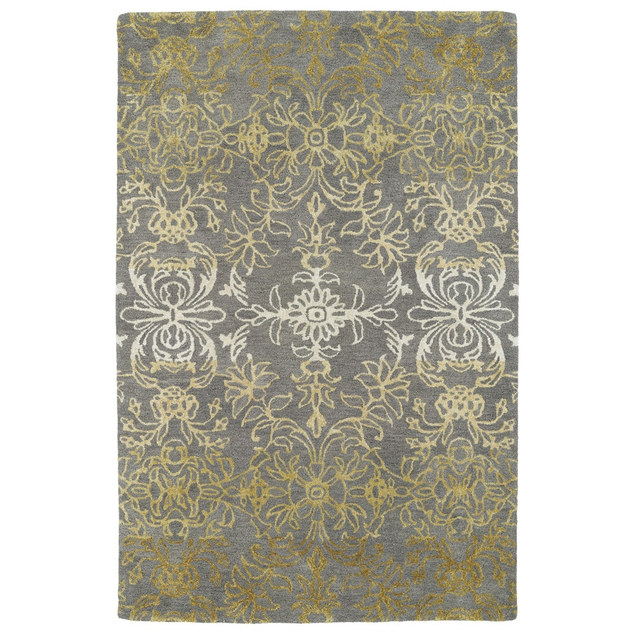 Kaleen Divine Brown Rectangular Indoor Tufted Distressed Area Rug (Common: 4 x 6; Actual: 3.5-ft W x 5.5-ft L)