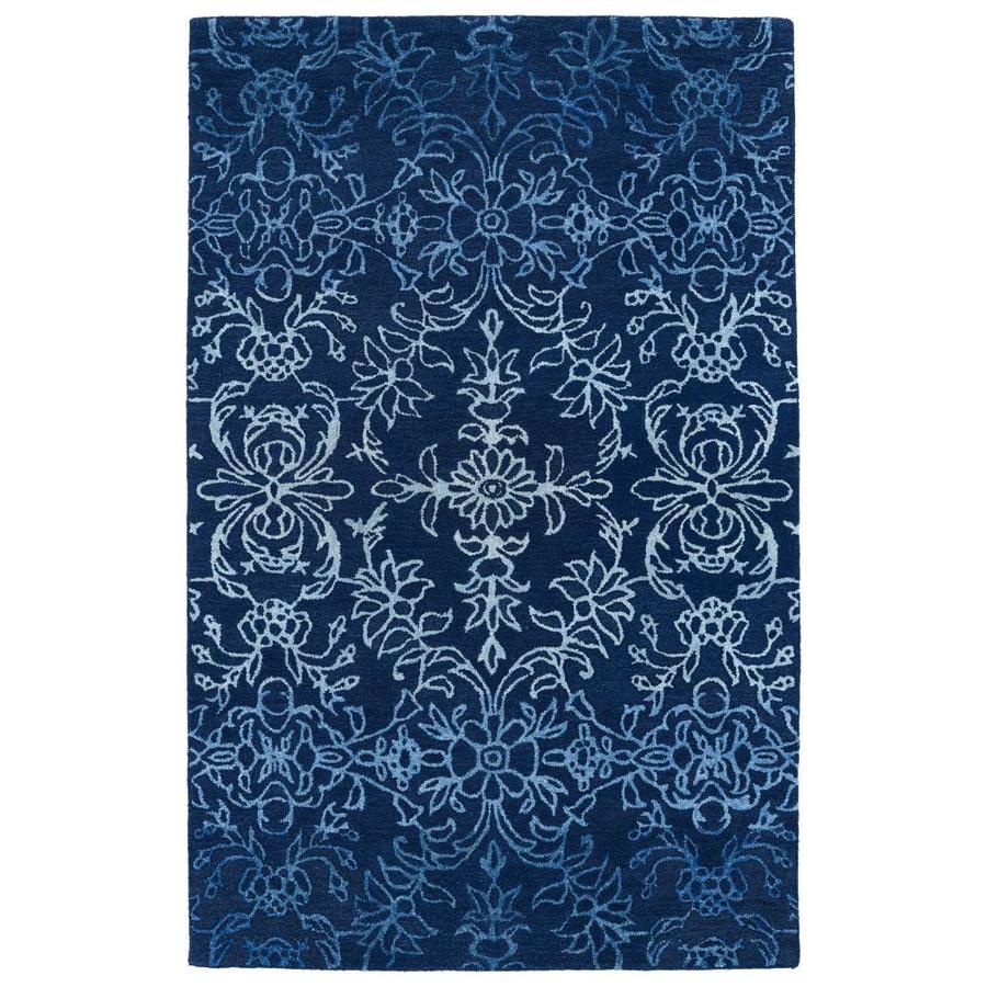 Kaleen Divine Blue Rectangular Indoor Handcrafted Nature Area Rug (Common: 4 x 6; Actual: 3.5-ft W x 5.5-ft L)