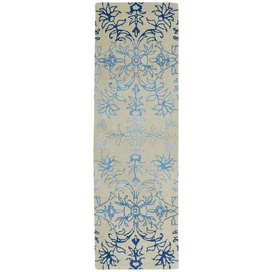 Kaleen Divine Linen Rectangular Indoor Handcrafted Nature Runner (Common: 2 x 8; Actual: 2.5-ft W x 8-ft L)