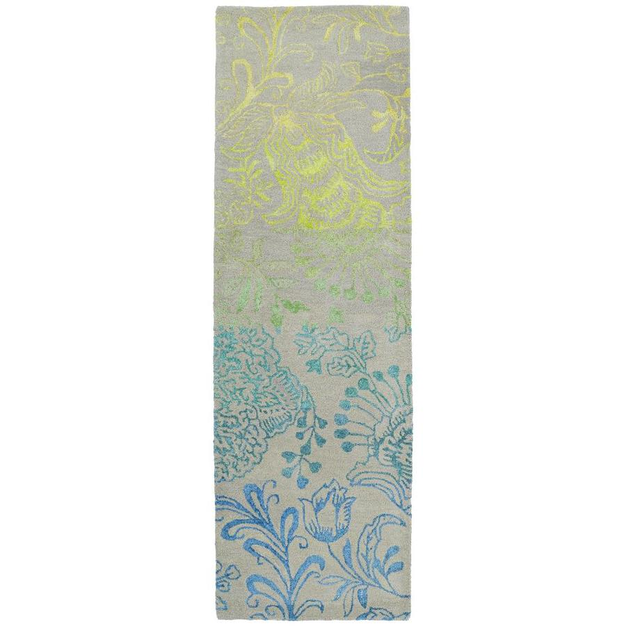 Kaleen Divine Breeze Rectangular Indoor Handcrafted Nature Runner (Common: 2 x 8; Actual: 2.5-ft W x 8-ft L)