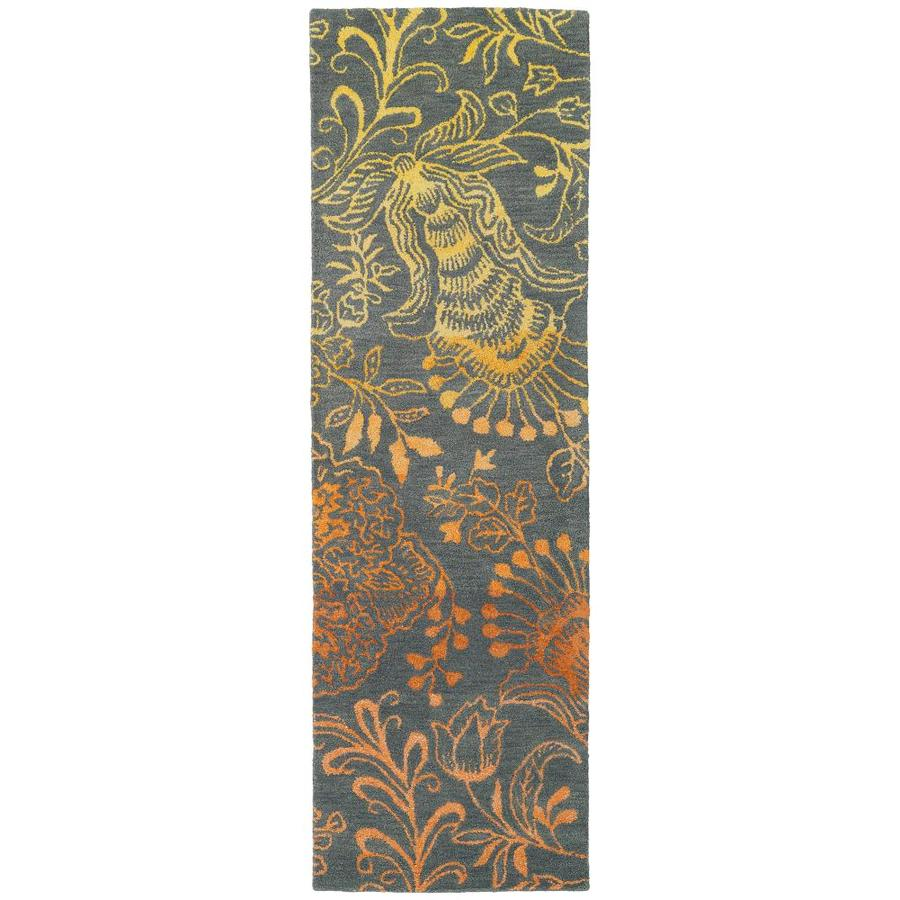 Kaleen Divine Fire Rectangular Indoor Handcrafted Nature Runner (Common: 2 x 8; Actual: 2.5-ft W x 8-ft L)
