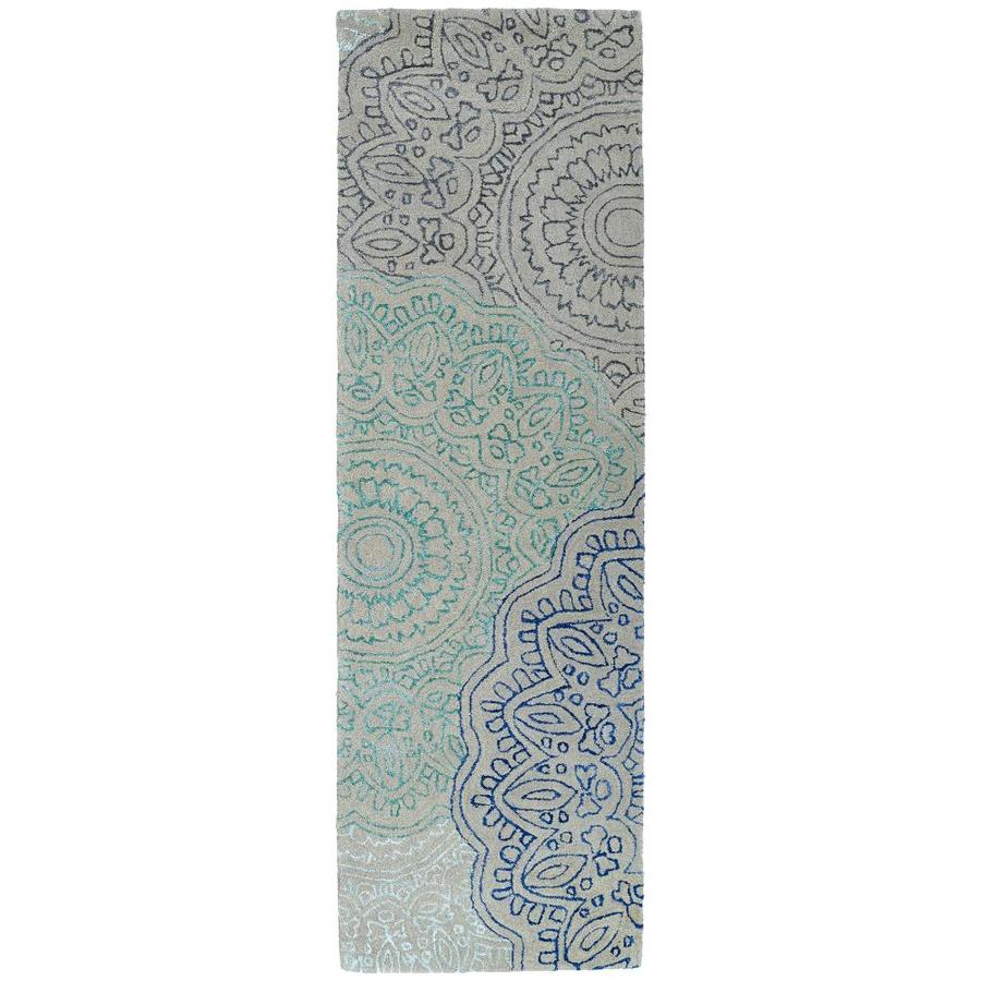 Kaleen Divine Multi Rectangular Indoor Handcrafted Nature Runner (Common: 2 x 8; Actual: 2.5-ft W x 8-ft L)
