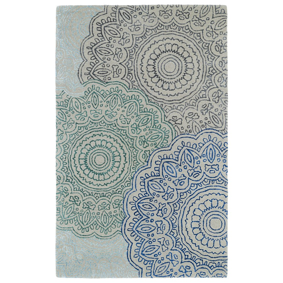 Kaleen Divine Multicolor Rectangular Indoor Tufted Distressed Area Rug (Common: 4 x 6; Actual: 42-in W x 66-in L)