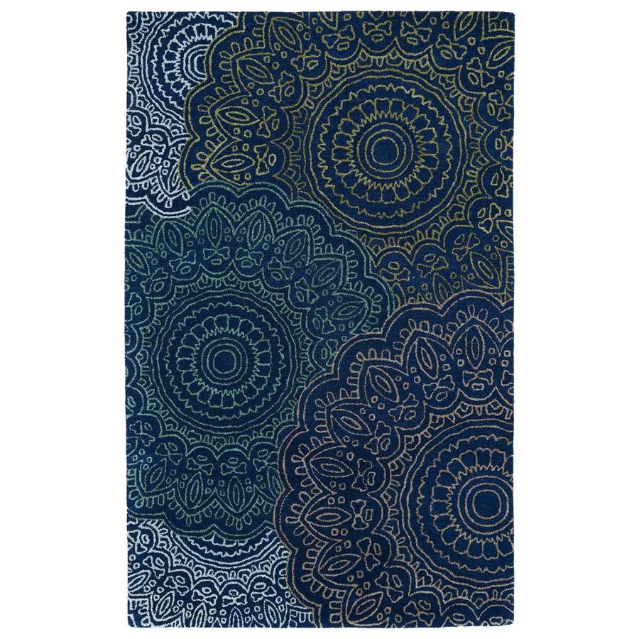 Kaleen Divine Navy Rectangular Indoor Handcrafted Nature Area Rug (Common: 4 x 6; Actual: 3.5-ft W x 5.5-ft L)