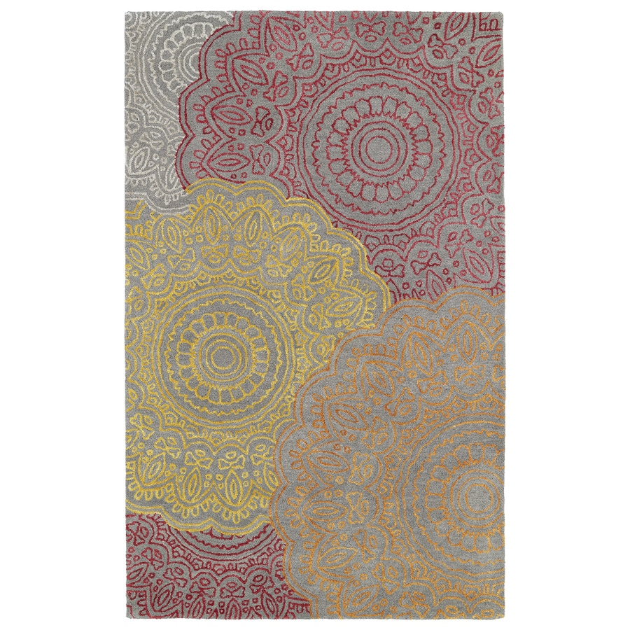 Kaleen Divine Fire Rectangular Indoor Tufted Distressed Area Rug (Common: 5 x 8; Actual: 60-in W x 93-in L)