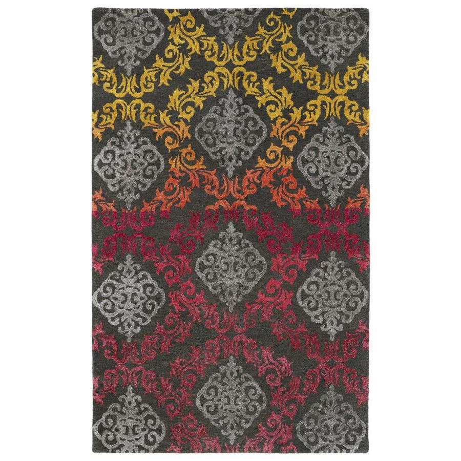 Kaleen Divine Fire Rectangular Indoor Handcrafted Nature Area Rug (Common: 4 x 6; Actual: 3.5-ft W x 5.5-ft L)