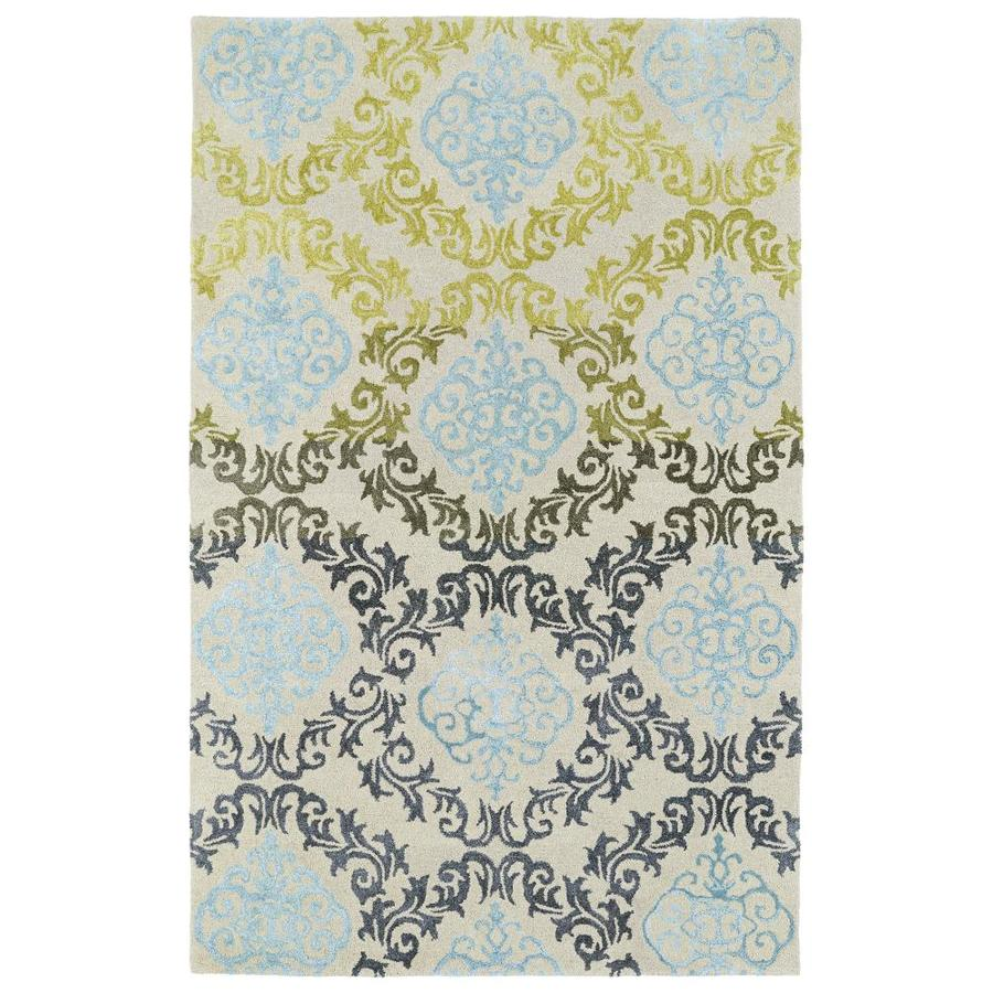 Kaleen Divine Multi Rectangular Indoor Handcrafted Nature Throw Rug (Common: 2 x 3; Actual: 2-ft W x 3-ft L)