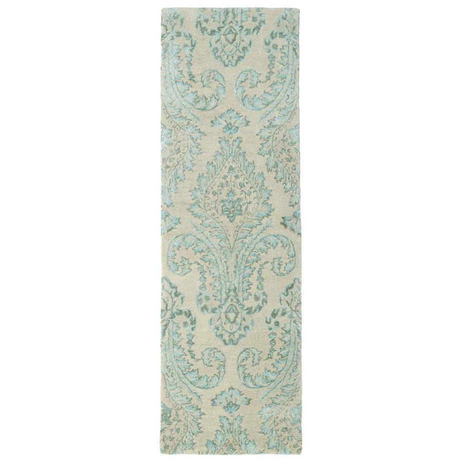 Kaleen Divine Turquoise Rectangular Indoor Handcrafted Oriental Runner (Common: 2 x 8; Actual: 2.5-ft W x 8-ft L)