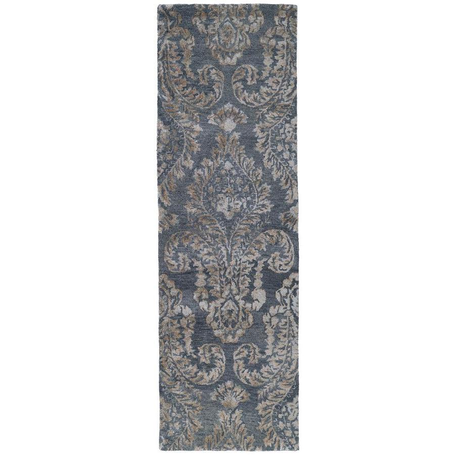Kaleen Divine Grey Rectangular Indoor Handcrafted Oriental Runner (Common: 3 x 8; Actual: 2.5-ft W x 8-ft L)