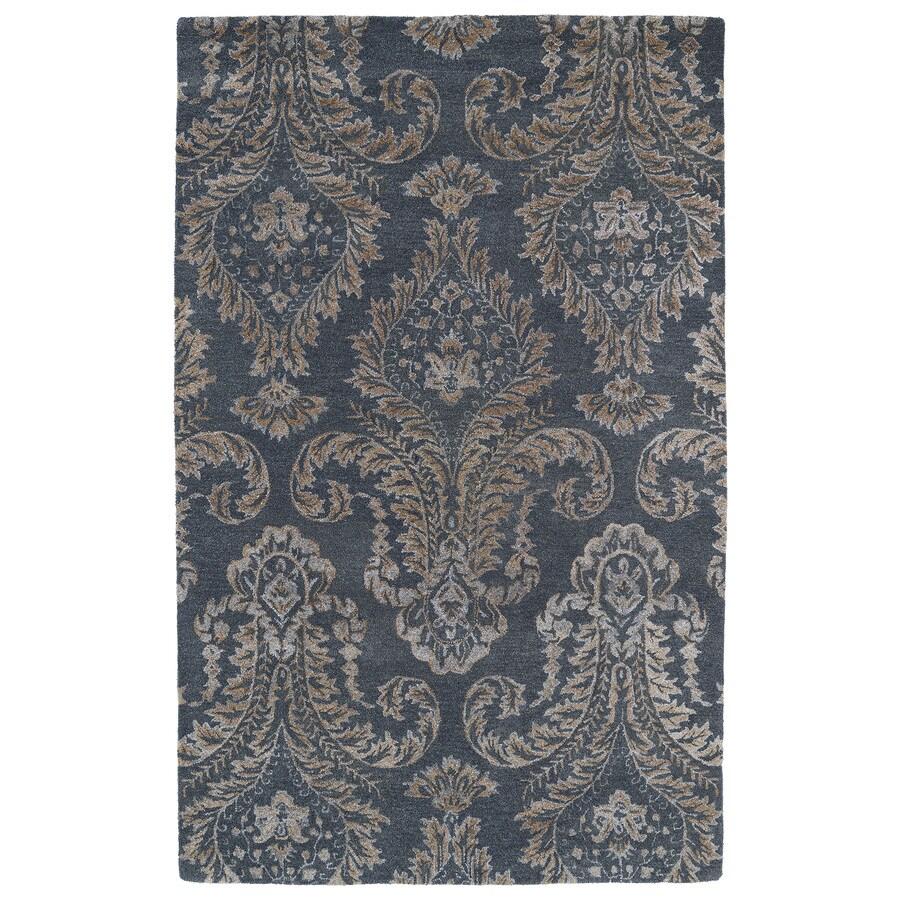 Kaleen Divine Grey Rectangular Indoor Tufted Distressed Area Rug (Common: 4 x 6; Actual: 42-in W x 66-in L)