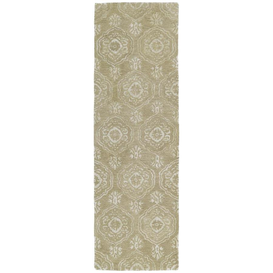 Kaleen Divine Light Brown Rectangular Indoor Handcrafted Oriental Runner (Common: 2 x 8; Actual: 2.5-ft W x 8-ft L)