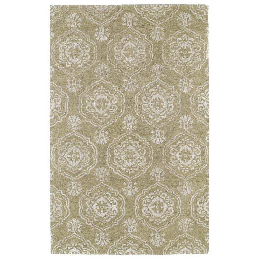 Kaleen Divine Light Brown Rectangular Indoor Handcrafted Oriental Area Rug (Common: 4 x 6; Actual: 3.5-ft W x 5.5-ft L)