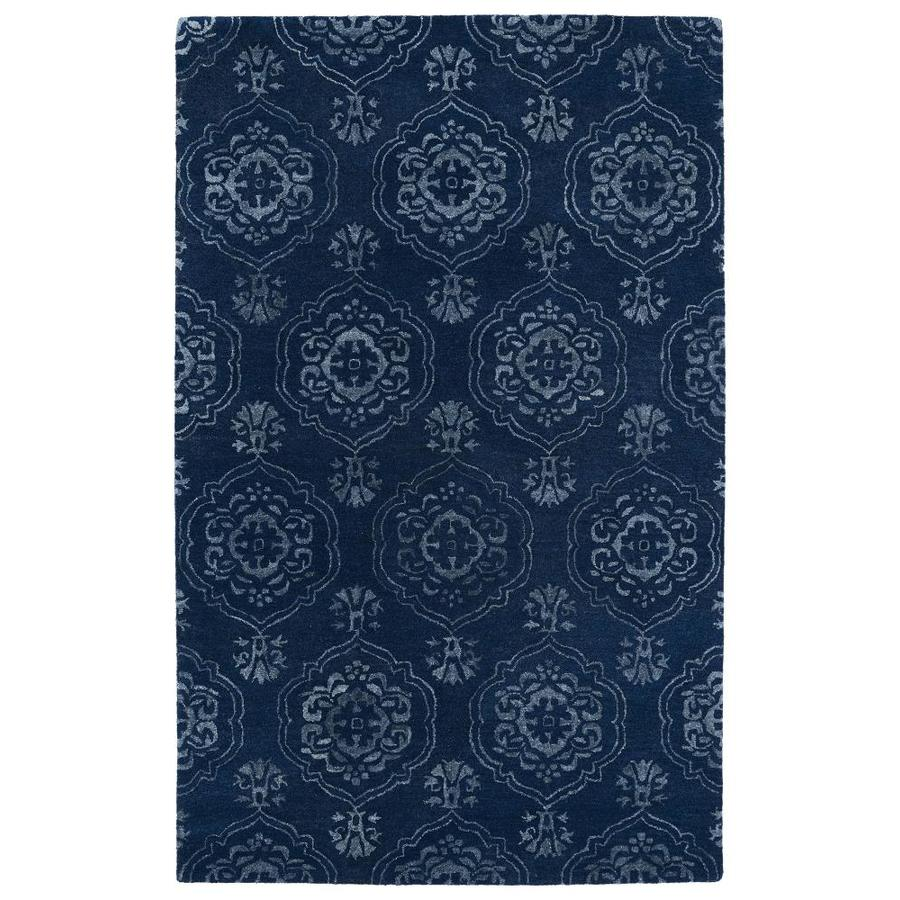 Kaleen Divine Navy Rectangular Indoor Handcrafted Oriental Throw Rug (Common: 2 x 3; Actual: 2-ft W x 3-ft L)
