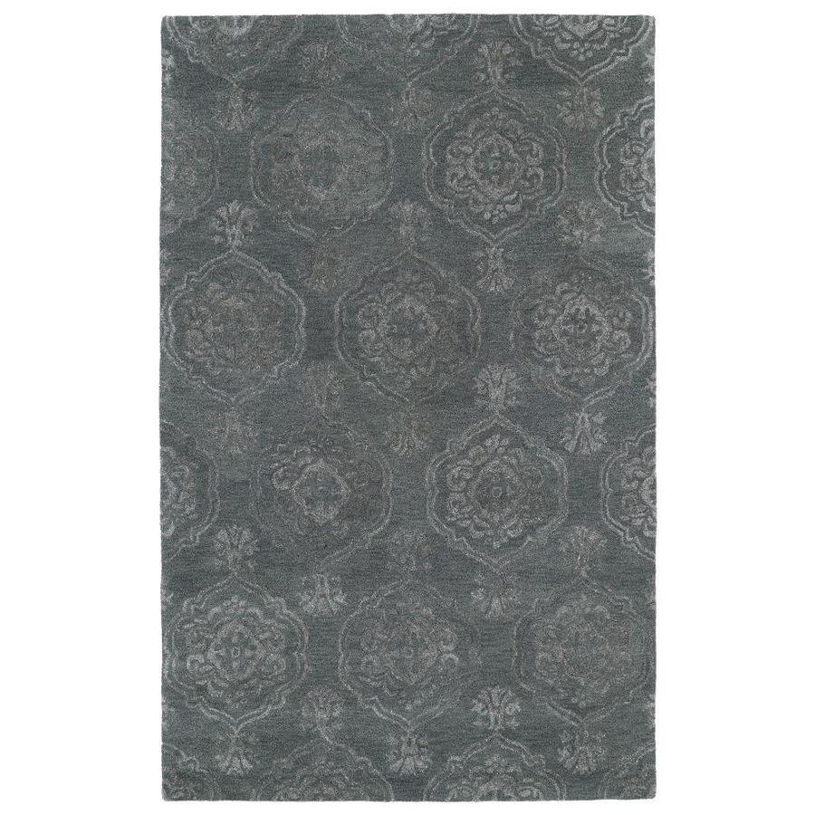 Kaleen Divine Pewter Green Rectangular Indoor Handcrafted Oriental Area Rug (Common: 10 X 13; Actual: 9.5-ft W x 13-ft L)