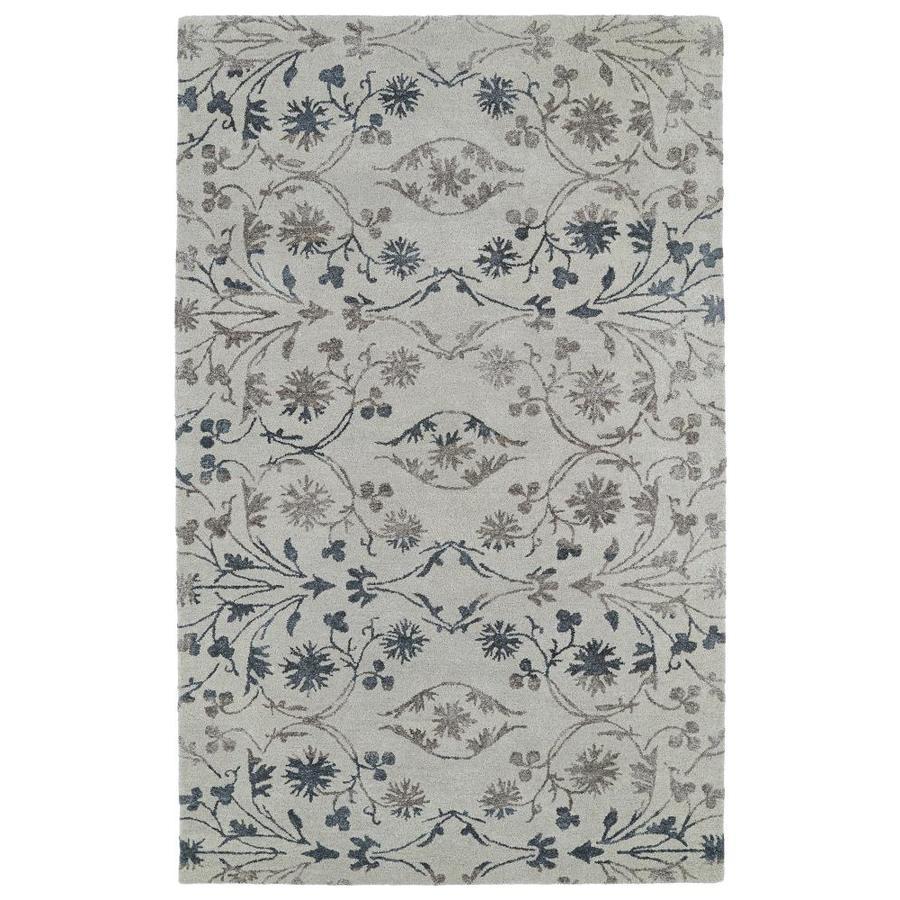 Kaleen Divine Linen Rectangular Indoor Handcrafted Nature Area Rug (Common: 5 x 8; Actual: 5-ft W x 7.75-ft L)