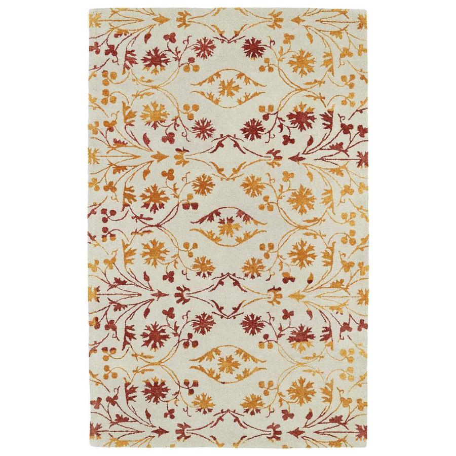 Kaleen Divine Fire Rectangular Indoor Handcrafted Nature Area Rug (Common: 5 X 8; Actual: 5-ft W x 7.75-ft L)