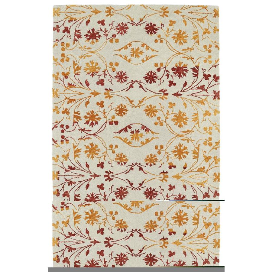 Kaleen Divine Fire Rectangular Indoor Handcrafted Nature Area Rug (Common: 8 X 11; Actual: 8-ft W x 11-ft L)