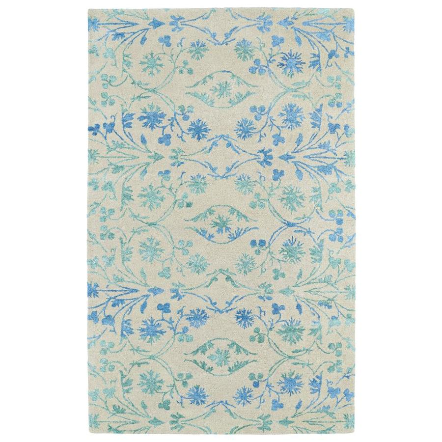 Kaleen Divine Ice Rectangular Indoor Handcrafted Nature Area Rug (Common: 5 x 8; Actual: 5-ft W x 7.75-ft L)