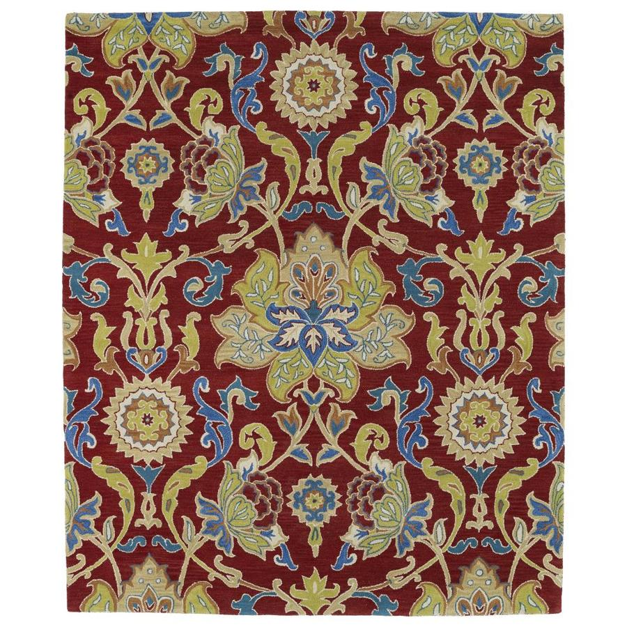 Kaleen Taj Red Indoor Handcrafted Nature Area Rug (Common: 8 x 9; Actual: 7.5-ft W x 9-ft L)