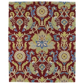 Kaleen Taj 8 X 11 Red Indoor Floral Botanical Oriental Handcrafted Area Rug In The Rugs Department At Lowes Com