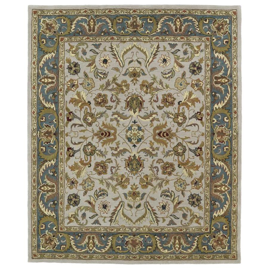 Kaleen Taj Taupe Indoor Handcrafted Nature Area Rug (Common: 5 x 8; Actual: 5-ft W x 7.75-ft L)