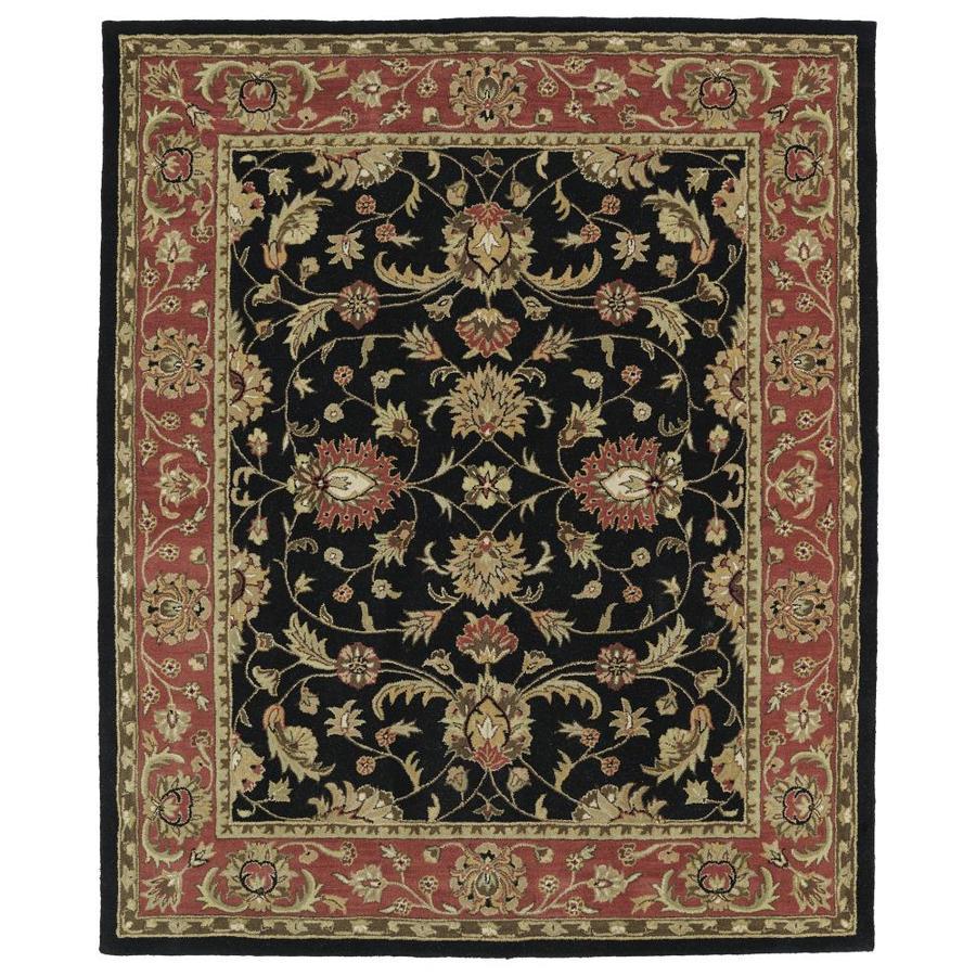 Kaleen Taj Black Indoor Handcrafted Nature Area Rug (Common: 8 x 9; Actual: 7.5-ft W x 9-ft L)