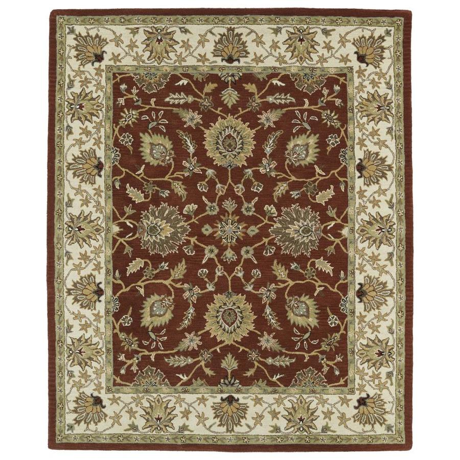Kaleen Taj Rust Indoor Handcrafted Nature Area Rug (Common: 8 x 11; Actual: 8-ft W x 11-ft L)