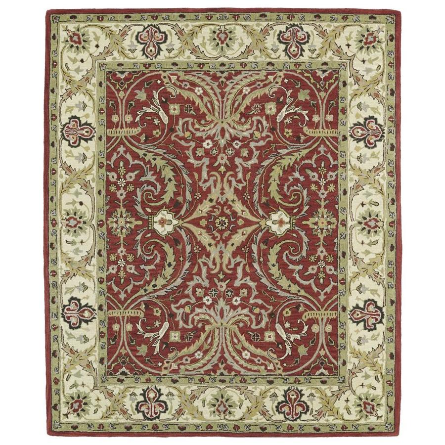 Kaleen Taj Red Indoor Handcrafted Nature Area Rug (Common: 5 x 8; Actual: 5-ft W x 7.75-ft L)