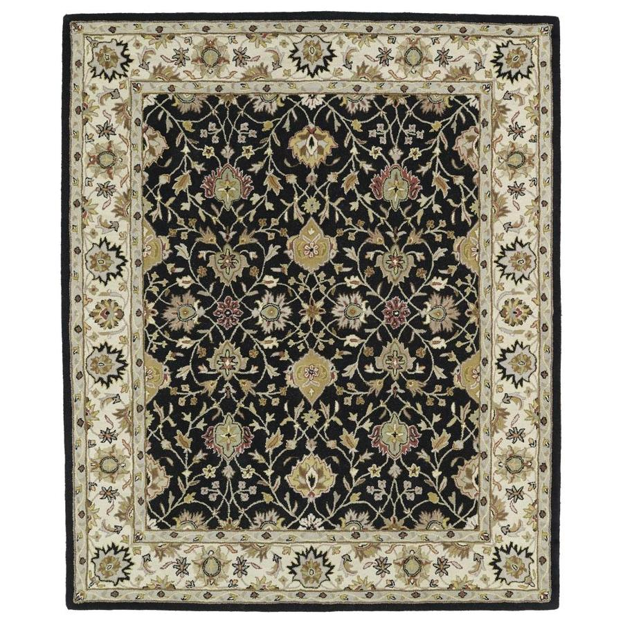 Kaleen Taj Black Indoor Handcrafted Nature Area Rug (Common: 8 x 11; Actual: 8-ft W x 11-ft L)