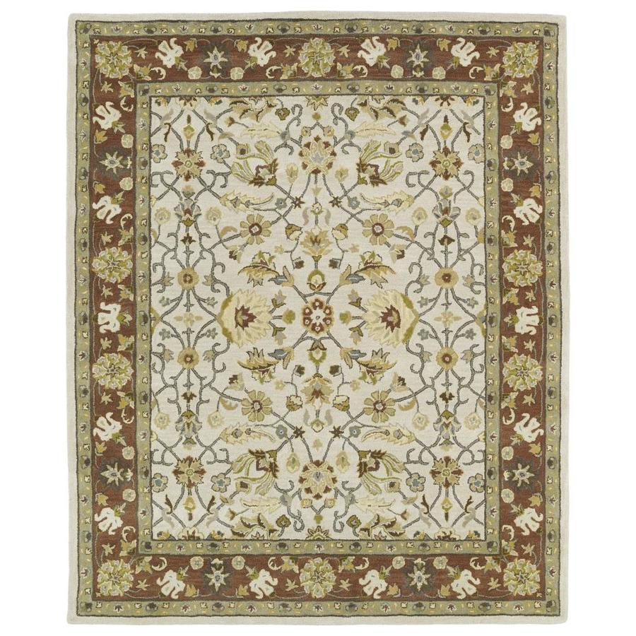 Kaleen Taj Ivory Indoor Handcrafted Nature Area Rug (Common: 8 x 11; Actual: 8-ft W x 11-ft L)