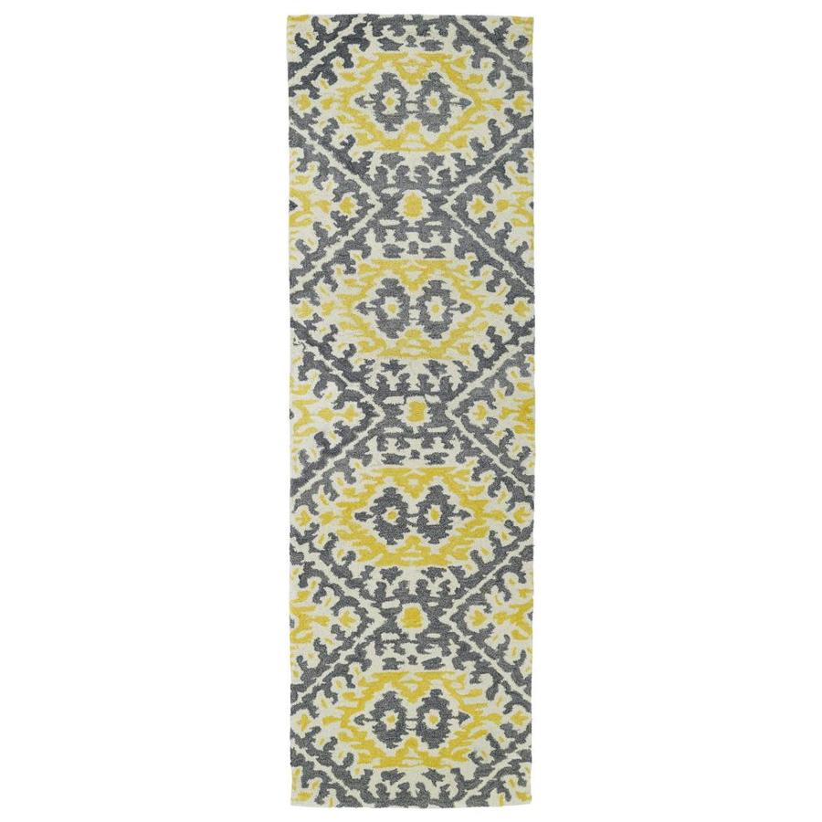 Kaleen Global Inspiration Yellow Indoor Handcrafted Southwestern Runner (Common: 2 x 8; Actual: 2.5-ft W x 8-ft L)
