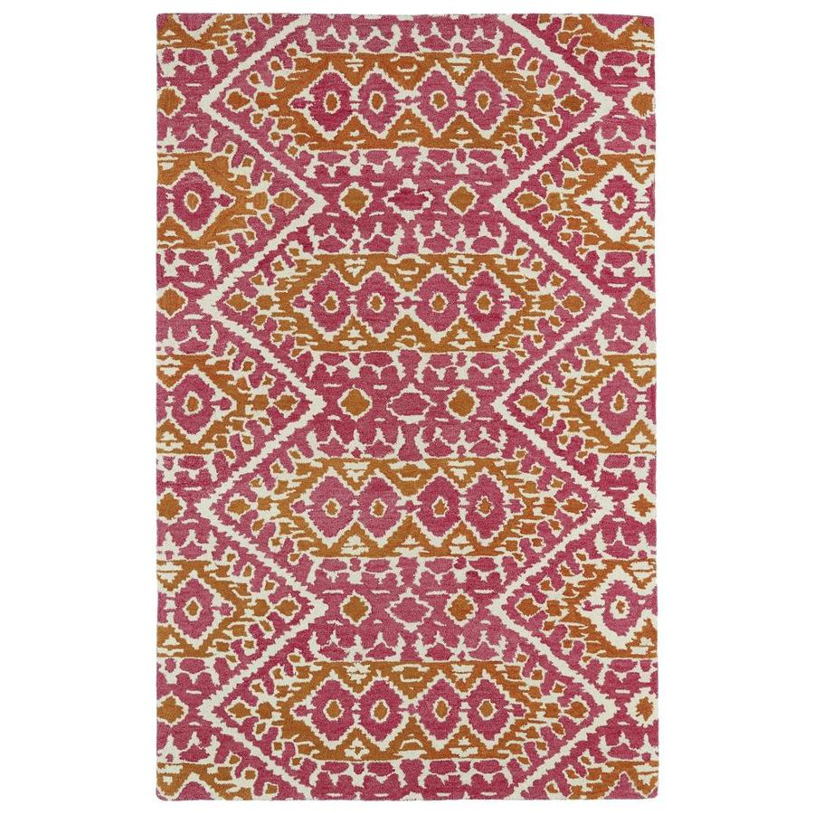 Kaleen Global Inspiration Pink Indoor Handcrafted Southwestern Area Rug (Common: 8 x 10; Actual: 8-ft W x 10-ft L)