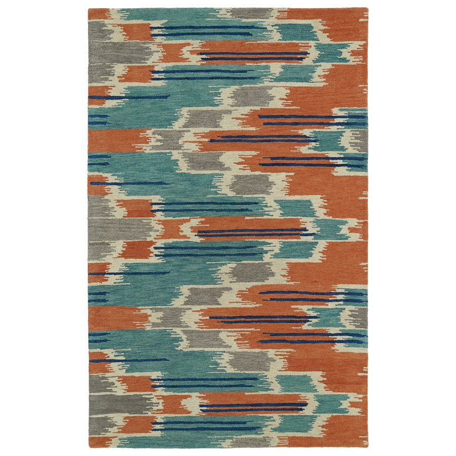 Kaleen Global Inspiration Multi Rectangular Indoor Handcrafted Distressed Area Rug (Common: 4 x 6; Actual: 3.5-ft W x 5.5-ft L)