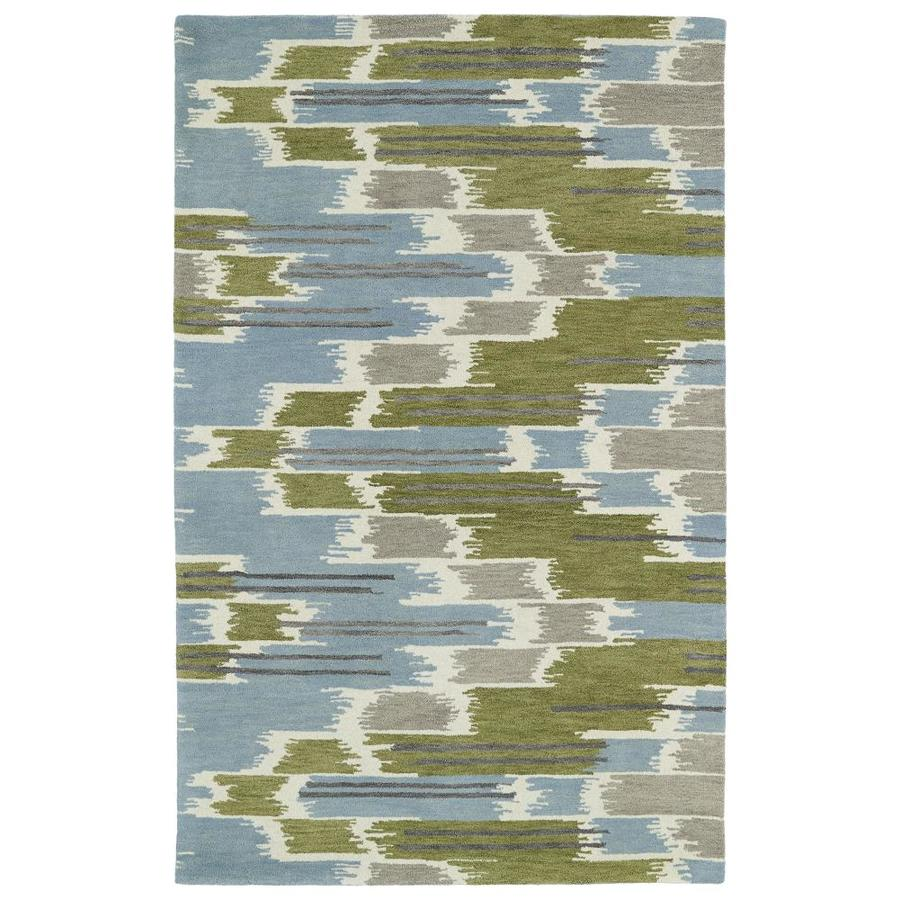 Kaleen Global Inspiration Wasabi Indoor Handcrafted Southwestern Area Rug (Common: 8 x 10; Actual: 8-ft W x 10-ft L)