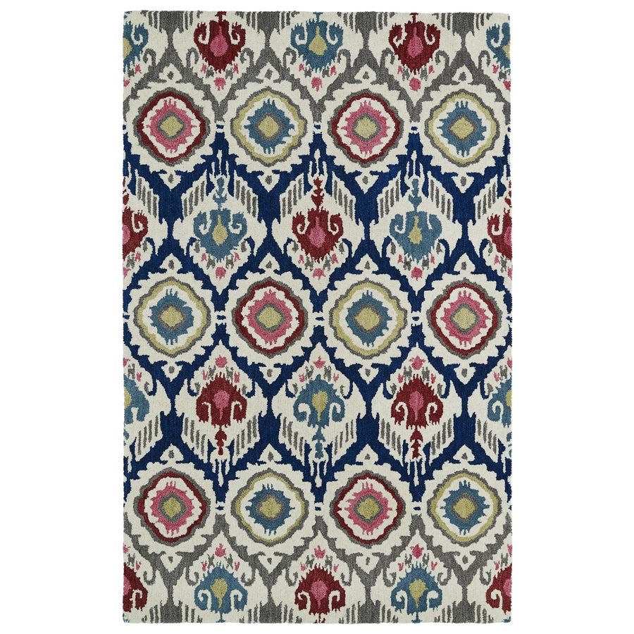 Kaleen Global inspiration Multi Rectangular Indoor Handcrafted Southwestern Area Rug (Common: 5 x 7; Actual: 5-ft W x 7.75-ft L)