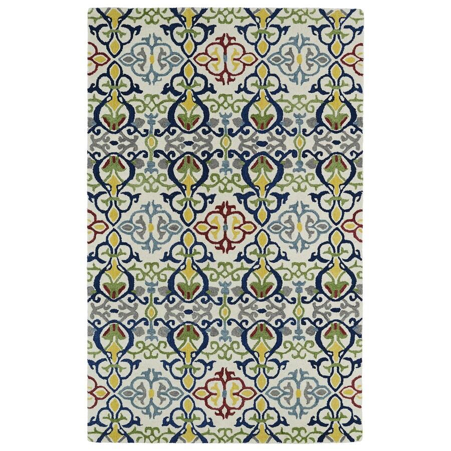 Kaleen Global Inspiration Multi Rectangular Indoor Handcrafted Oriental Area Rug (Common: 8 x 10; Actual: 8-ft W x 10-ft L x 0-ft Dia)