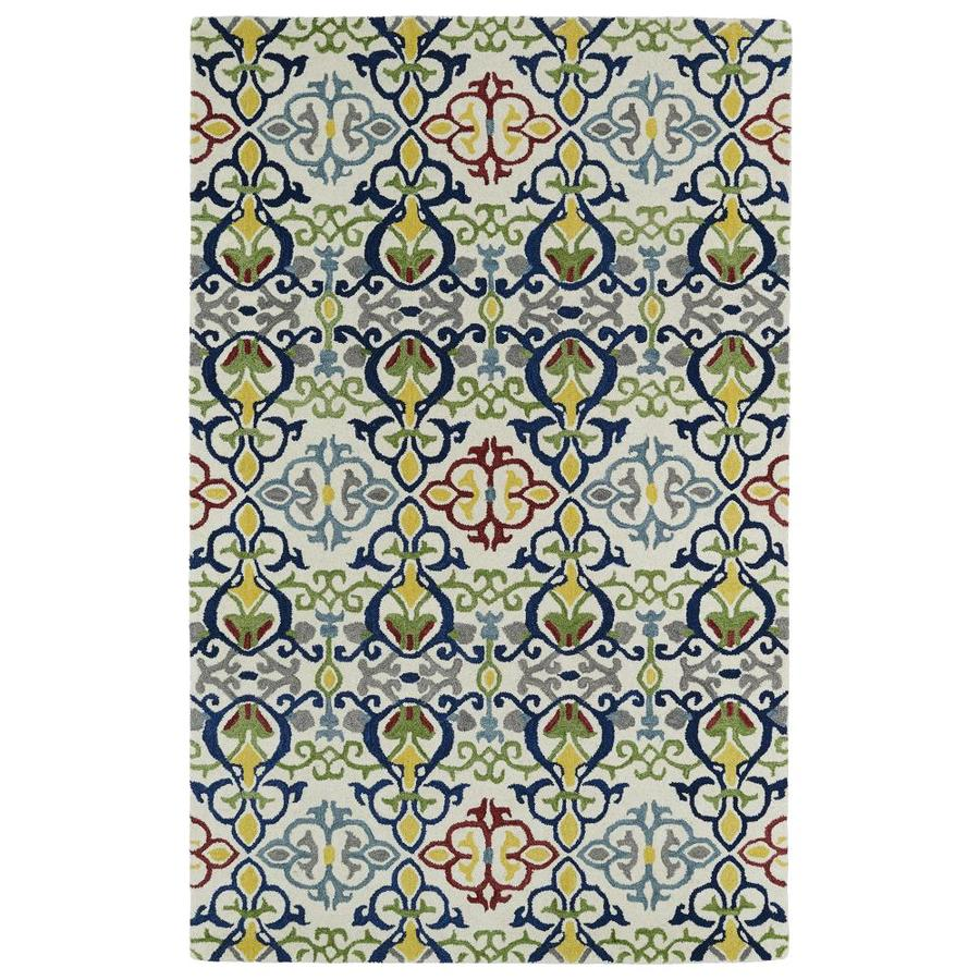 Kaleen Global Inspiration Multi Rectangular Indoor Handcrafted Southwestern Area Rug (Common: 9 x 12; Actual: 9-ft W x 12-ft L)