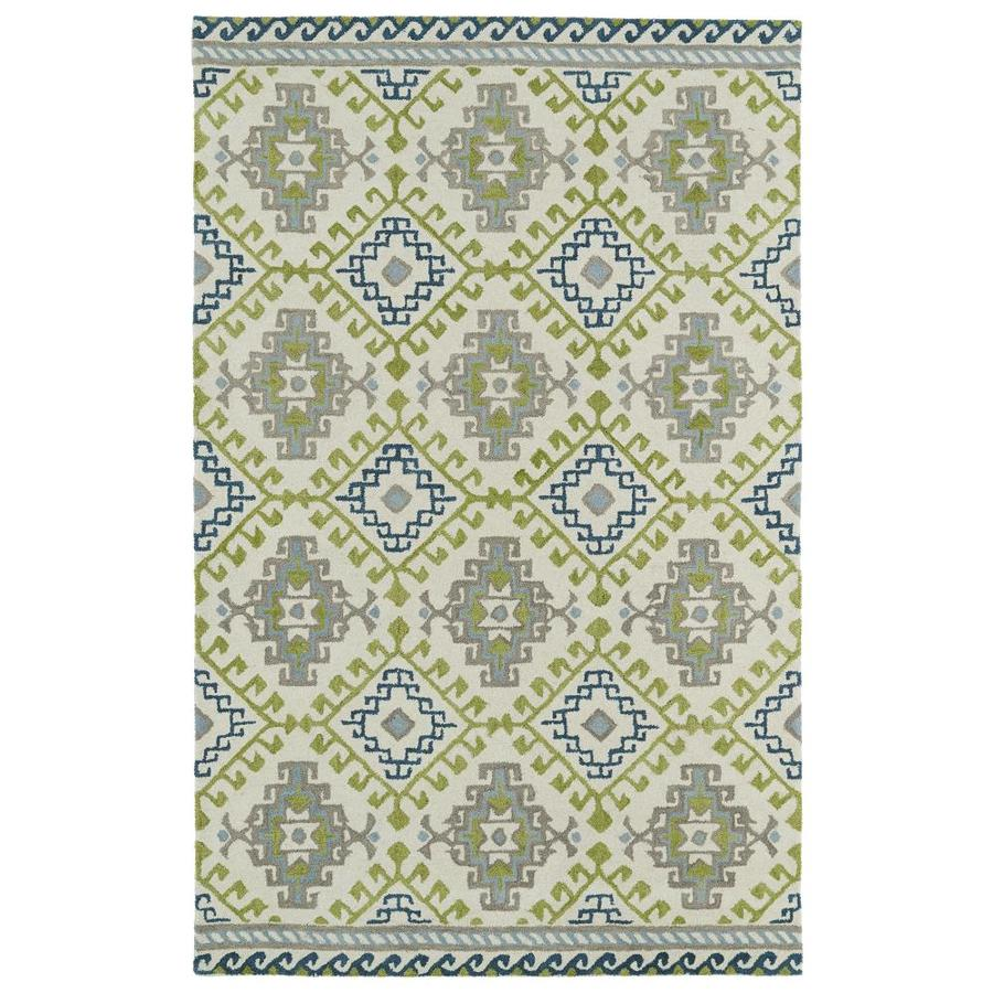 Kaleen Global Inspiration Ivory Rectangular Indoor Handcrafted Southwestern Area Rug (Common: 4 x 6; Actual: 3.5-ft W x 5.5-ft L)