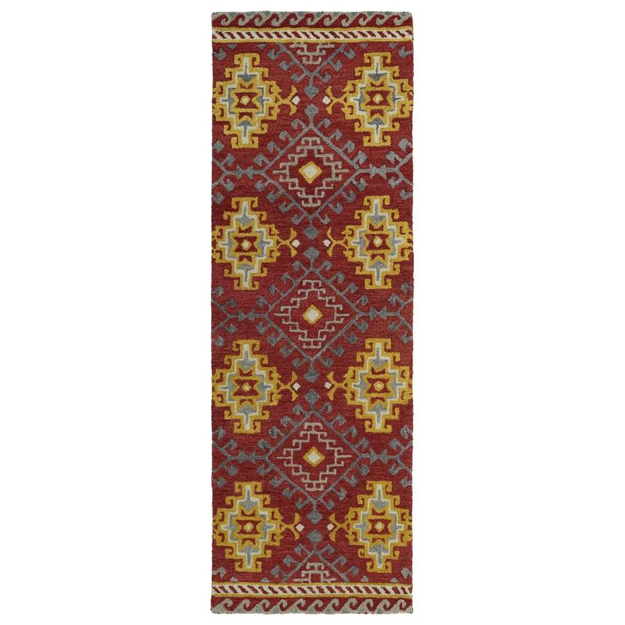 Kaleen Global Inspiration Red Indoor Handcrafted Southwestern Runner (Common: 2 x 8; Actual: 2.5-ft W x 8-ft L)