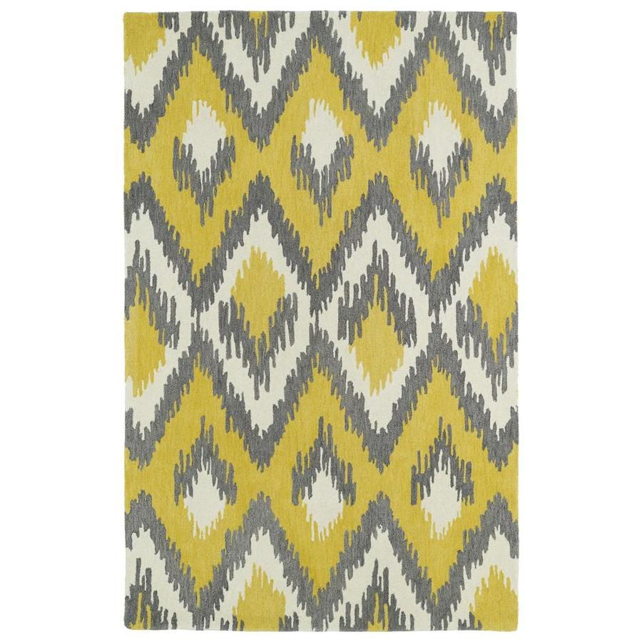 Kaleen Global Inspiration Yellow Indoor Handcrafted Southwestern Area Rug (Common: 9 x 12; Actual: 9-ft W x 12-ft L)