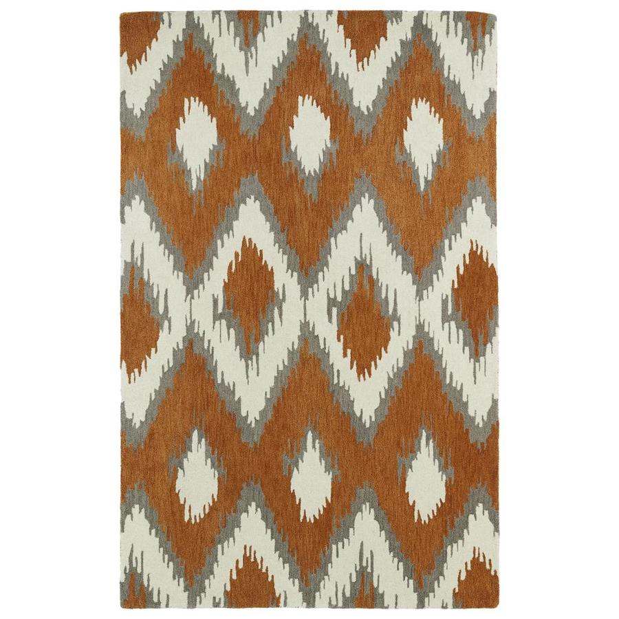 Kaleen Global Inspiration Paprika Indoor Handcrafted Southwestern Area Rug (Common: 4 x 6; Actual: 3.5-ft W x 5.5-ft L)