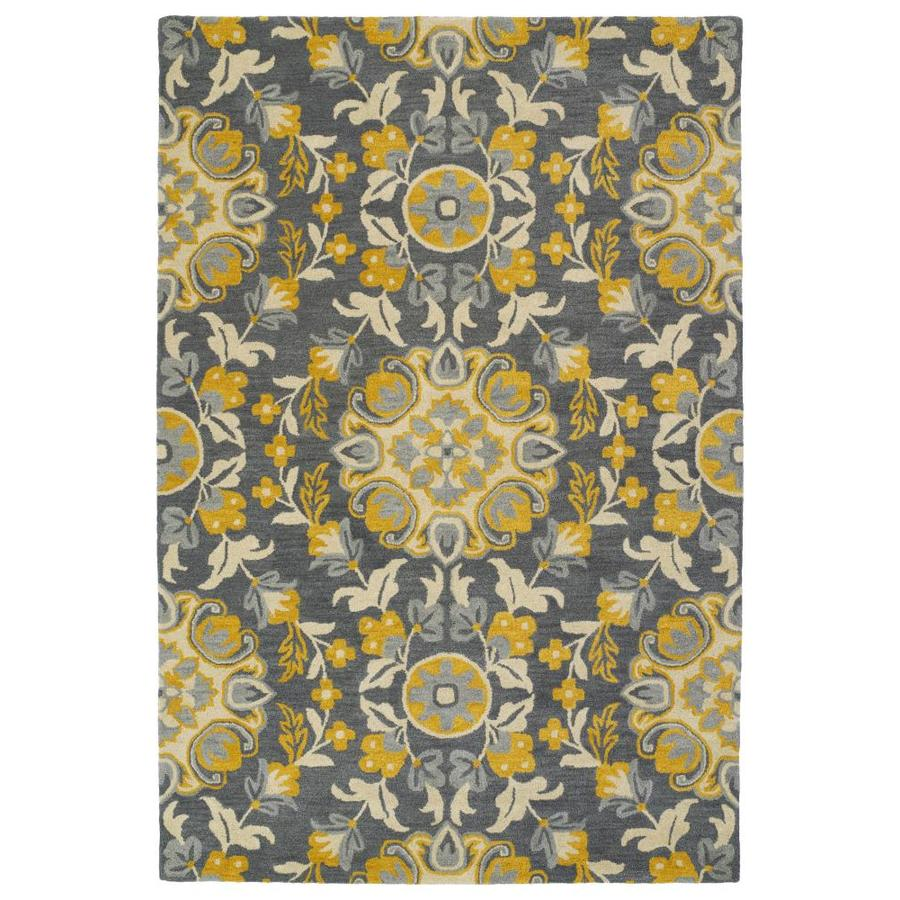Kaleen Global Inspiration Grey Rectangular Indoor Handcrafted Southwestern Throw Rug (Common: 2 x 3; Actual: 2-ft W x 3-ft L)