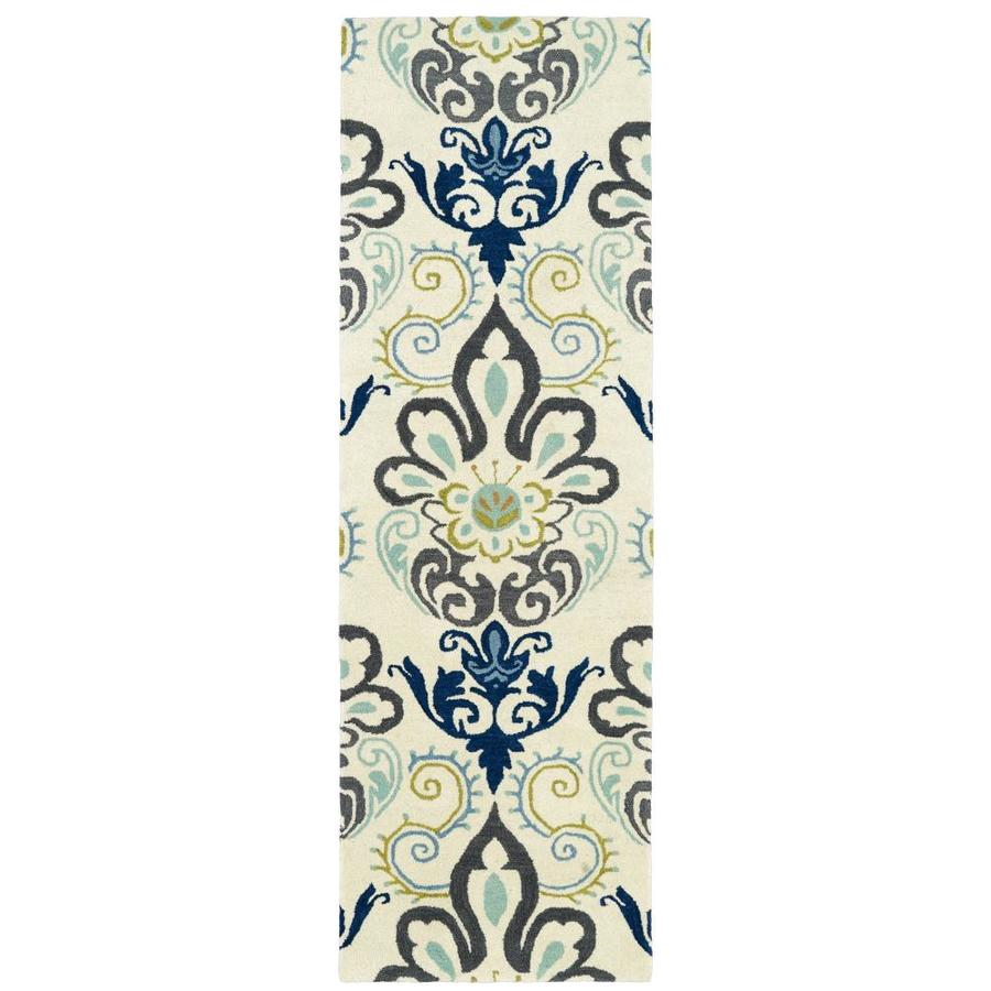 Kaleen Global Inspiration Blue Indoor Handcrafted Southwestern Runner (Common: 2 x 8; Actual: 2.5-ft W x 8-ft L)